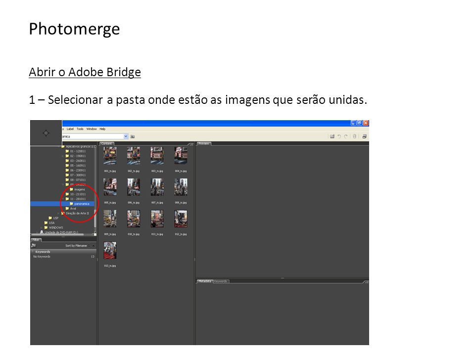 Photomerge Abrir o Adobe Bridge
