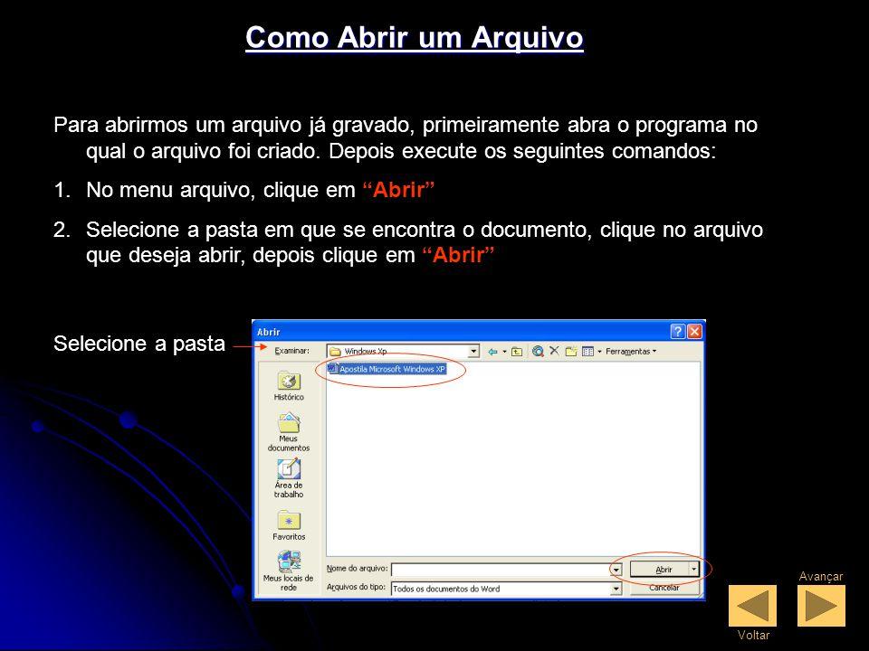 Como Abrir um Arquivo