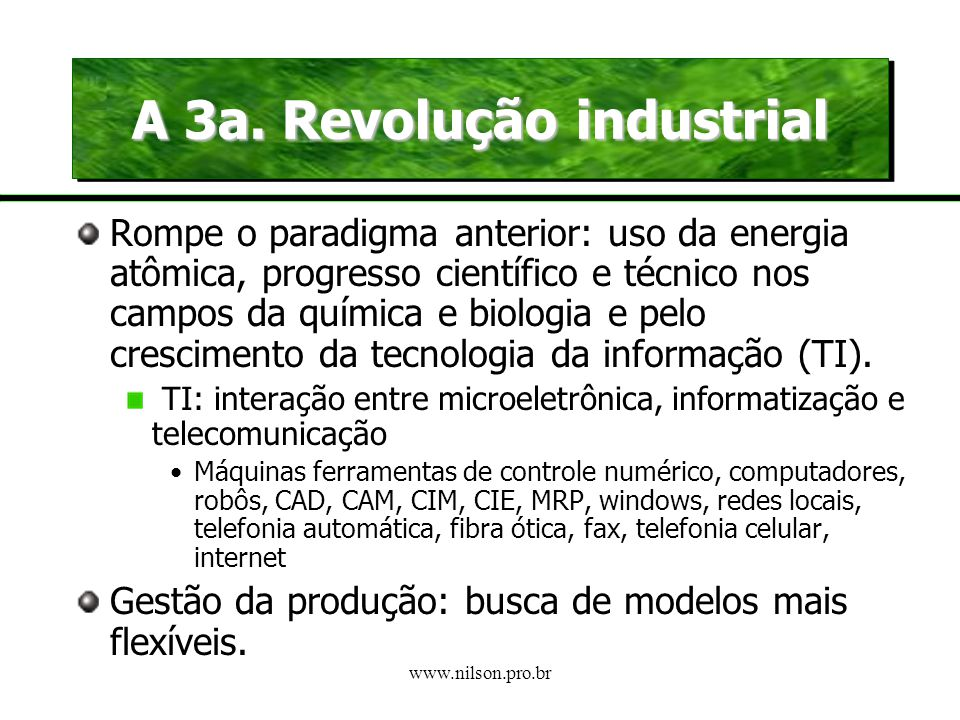 A 3a. Revolução industrial