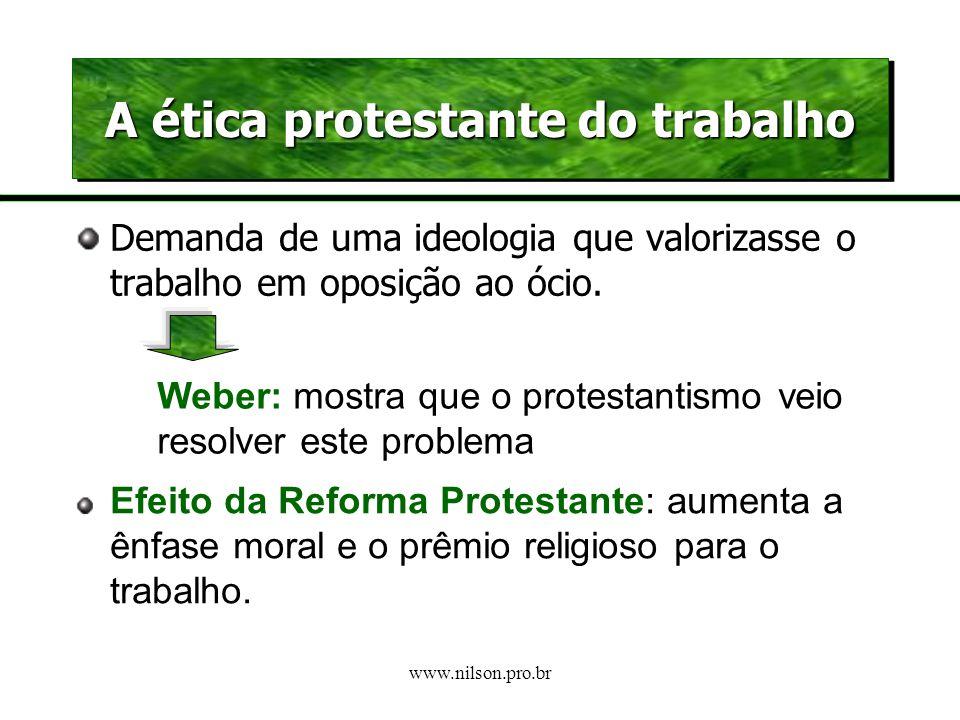 A ética protestante do trabalho
