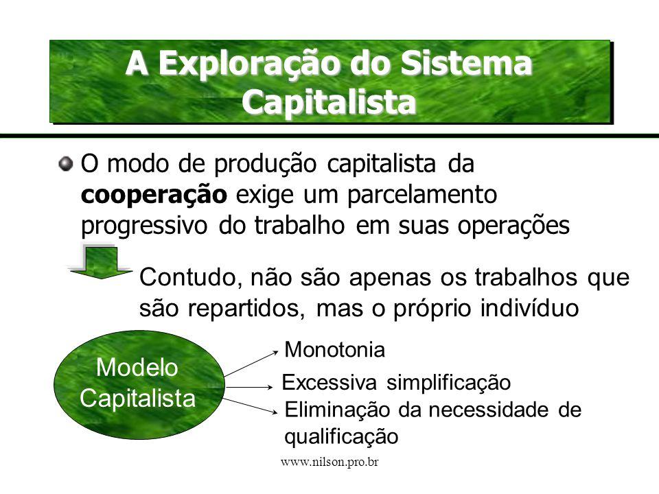 A Exploração do Sistema Capitalista