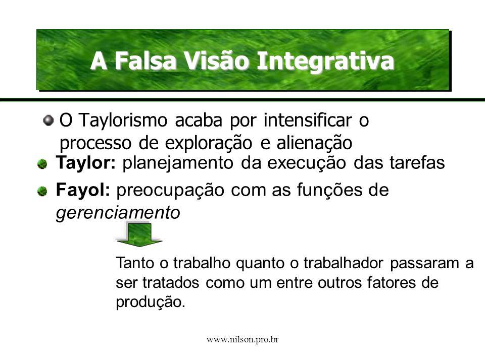 A Falsa Visão Integrativa