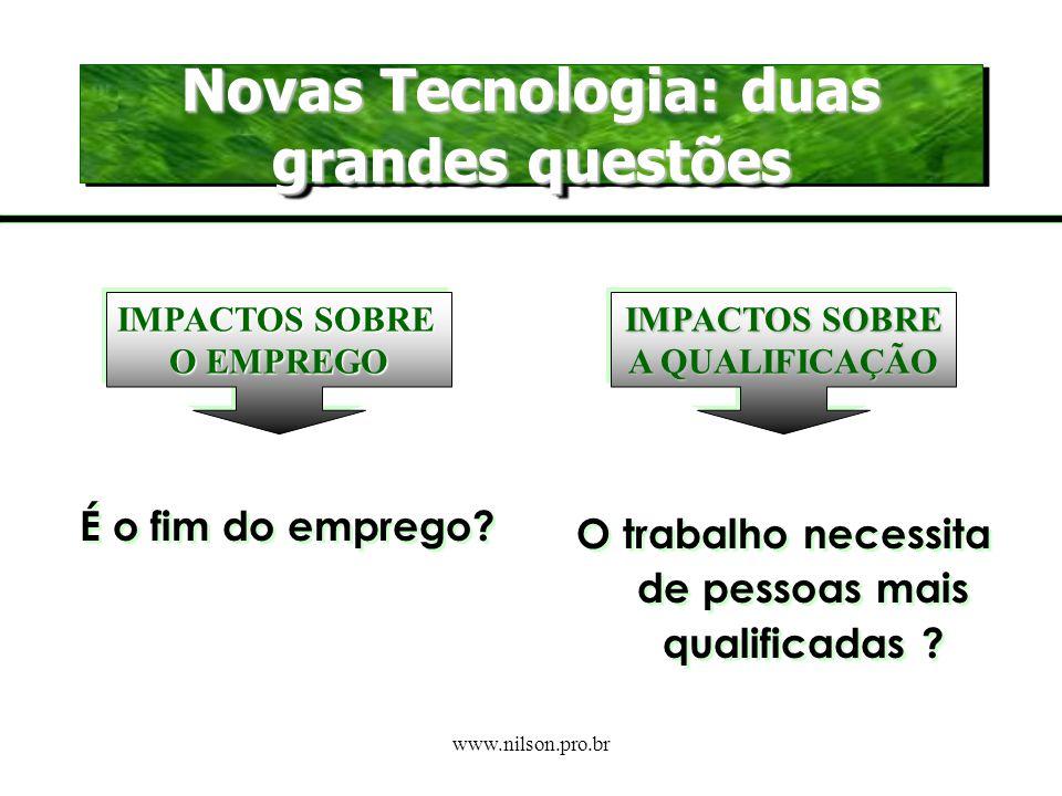 Novas Tecnologia: duas grandes questões