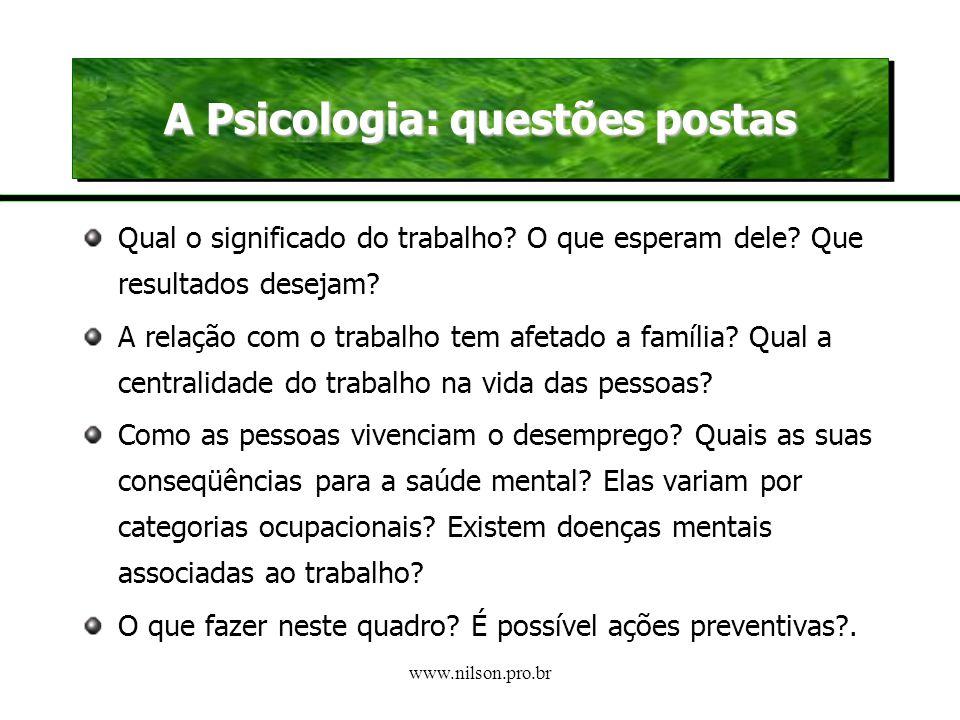 A Psicologia: questões postas