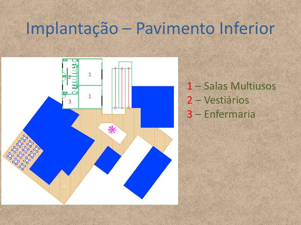 Implantação – Pavimento Inferior