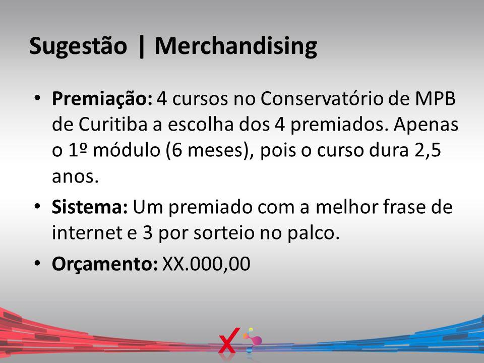 Sugestão | Merchandising