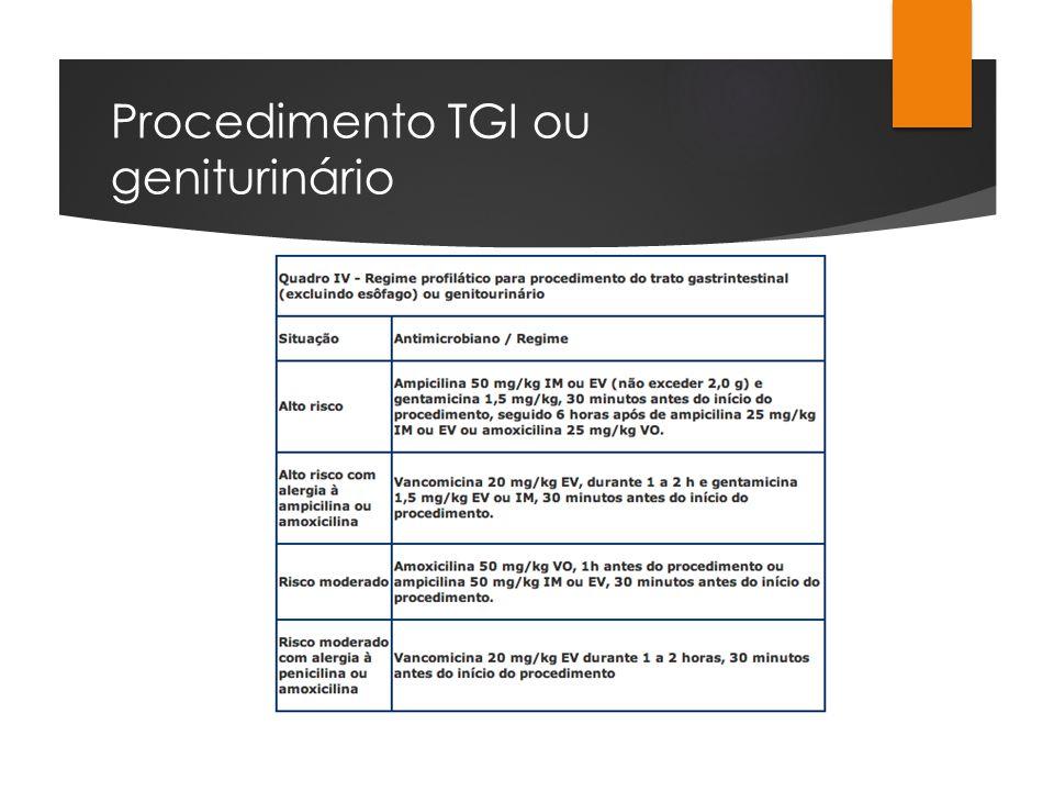 Procedimento TGI ou geniturinário
