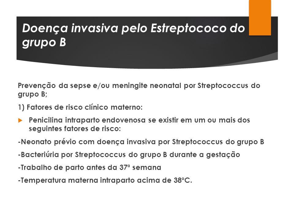 Doença invasiva pelo Estreptococo do grupo B