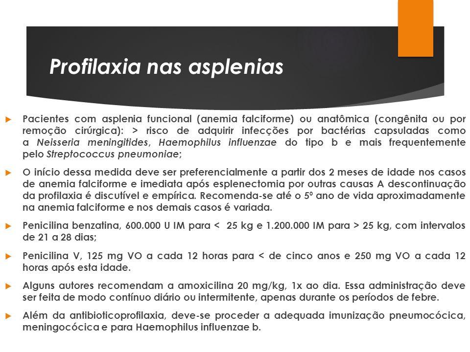 Profilaxia nas asplenias