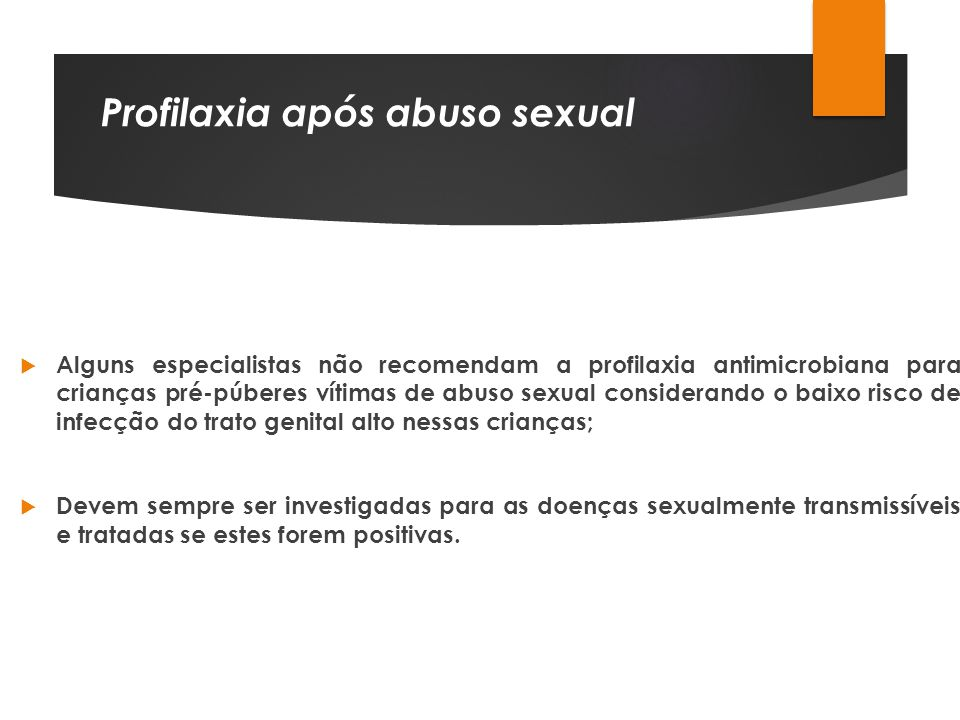 Profilaxia após abuso sexual