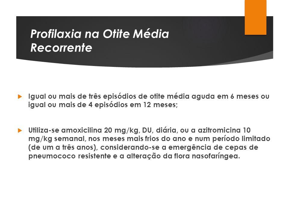 Profilaxia na Otite Média Recorrente