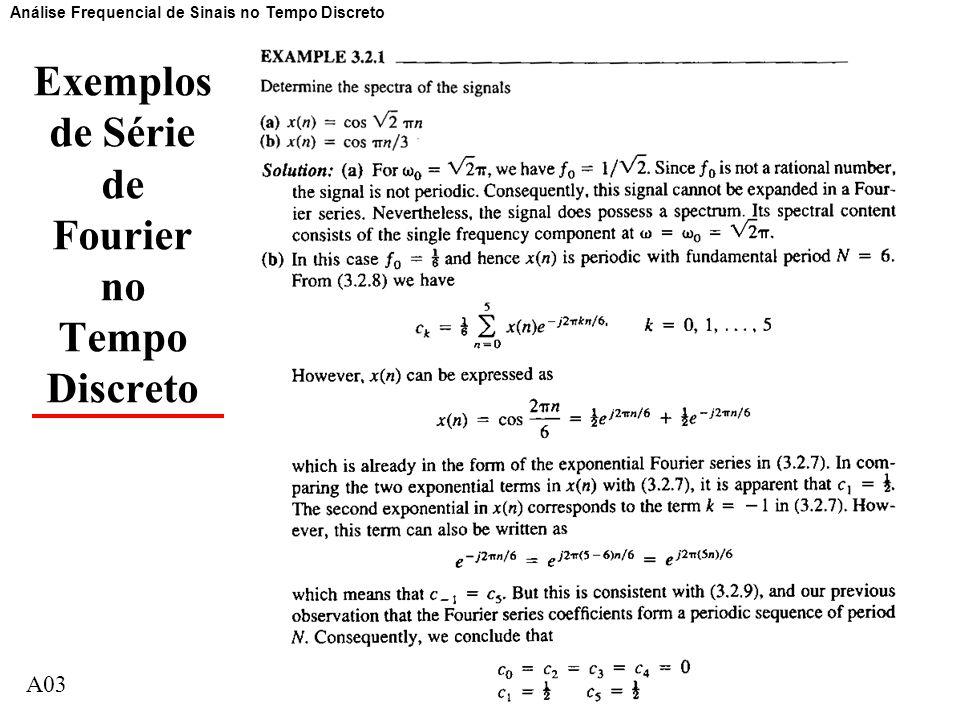 Exemplos de Série de Fourier no Tempo Discreto