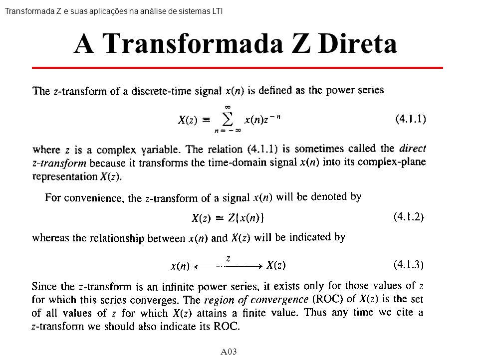 A Transformada Z Direta