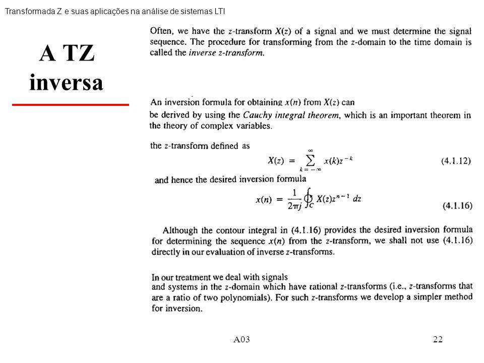 Transformada Z e suas aplicações na análise de sistemas LTI