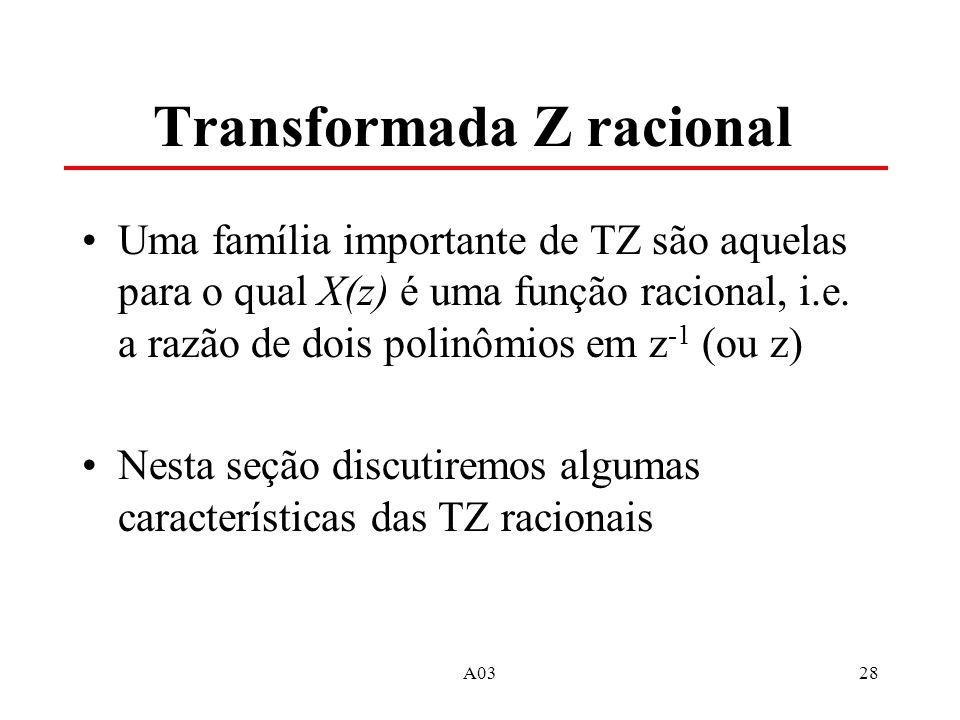 Transformada Z racional