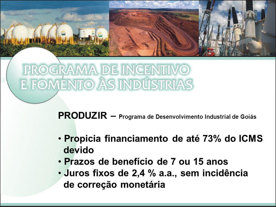 PRODUZIR – Programa de Desenvolvimento Industrial de Goiás