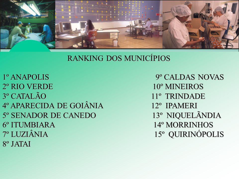 RANKING DOS MUNICÍPIOS