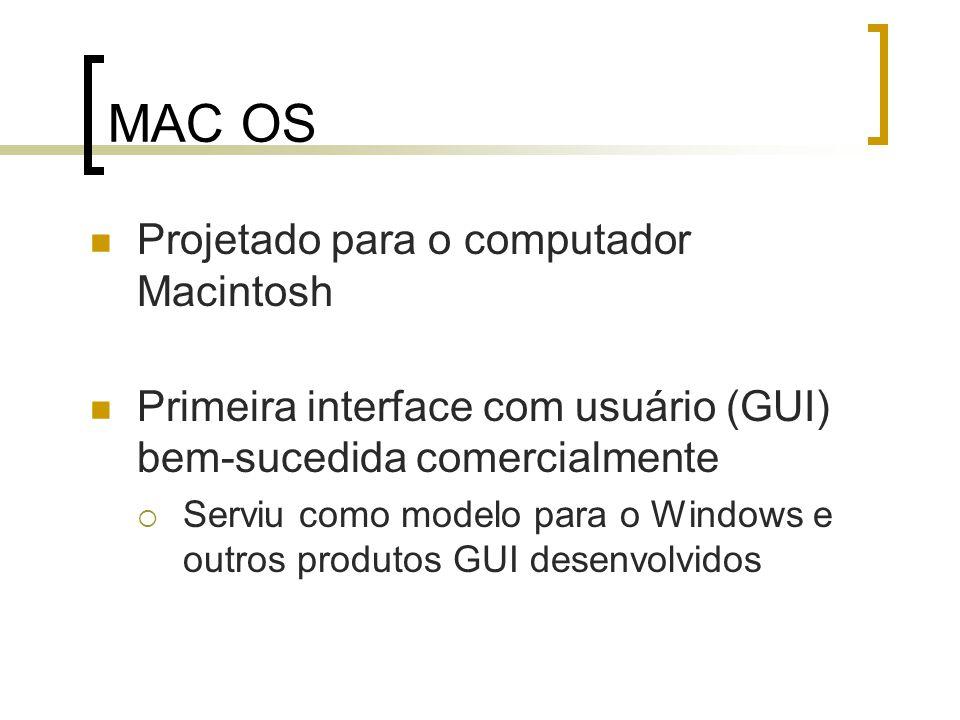 MAC OS Projetado para o computador Macintosh