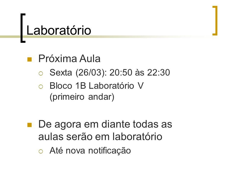 Laboratório Próxima Aula