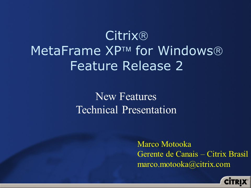 Citrix MetaFrame XP for Windows Feature Release 2