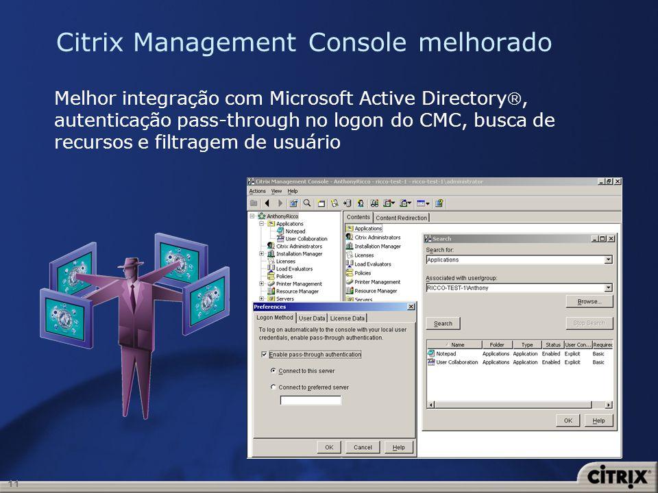 Citrix Management Console melhorado