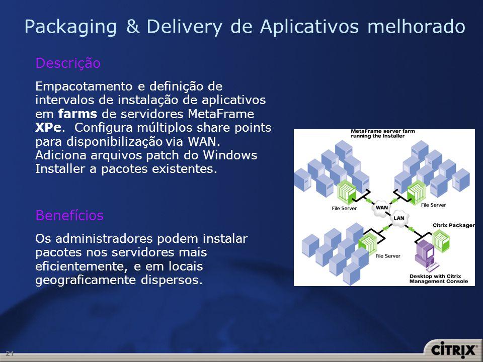 Packaging & Delivery de Aplicativos melhorado