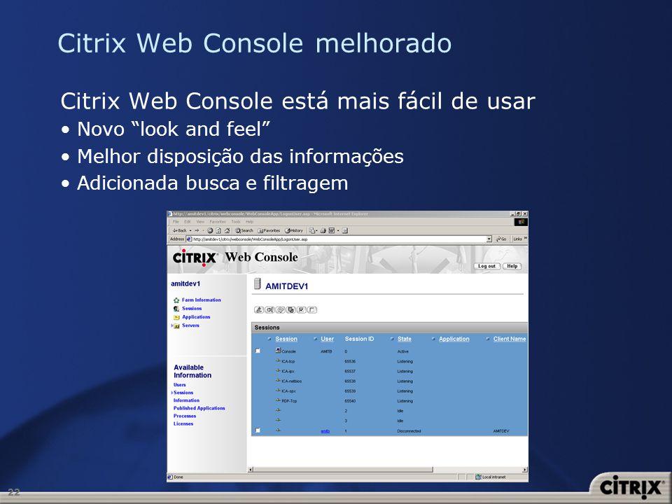 Citrix Web Console melhorado