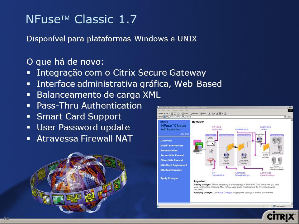 NFuse Classic 1.7 O que há de novo: