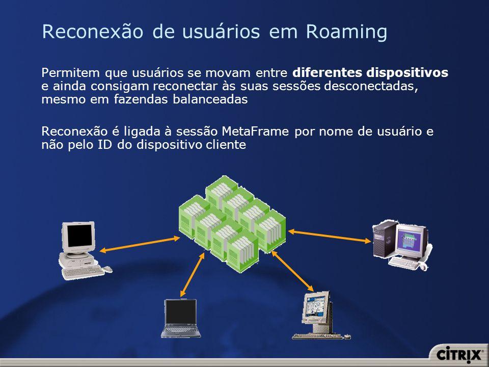 Reconexão de usuários em Roaming