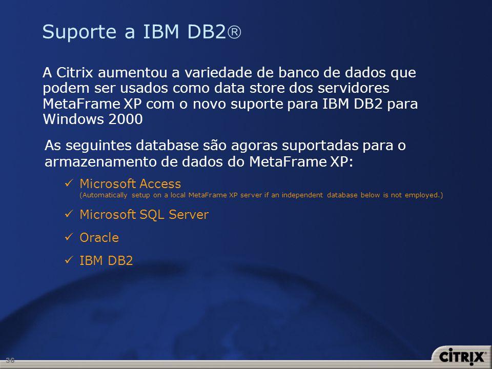 Suporte a IBM DB2
