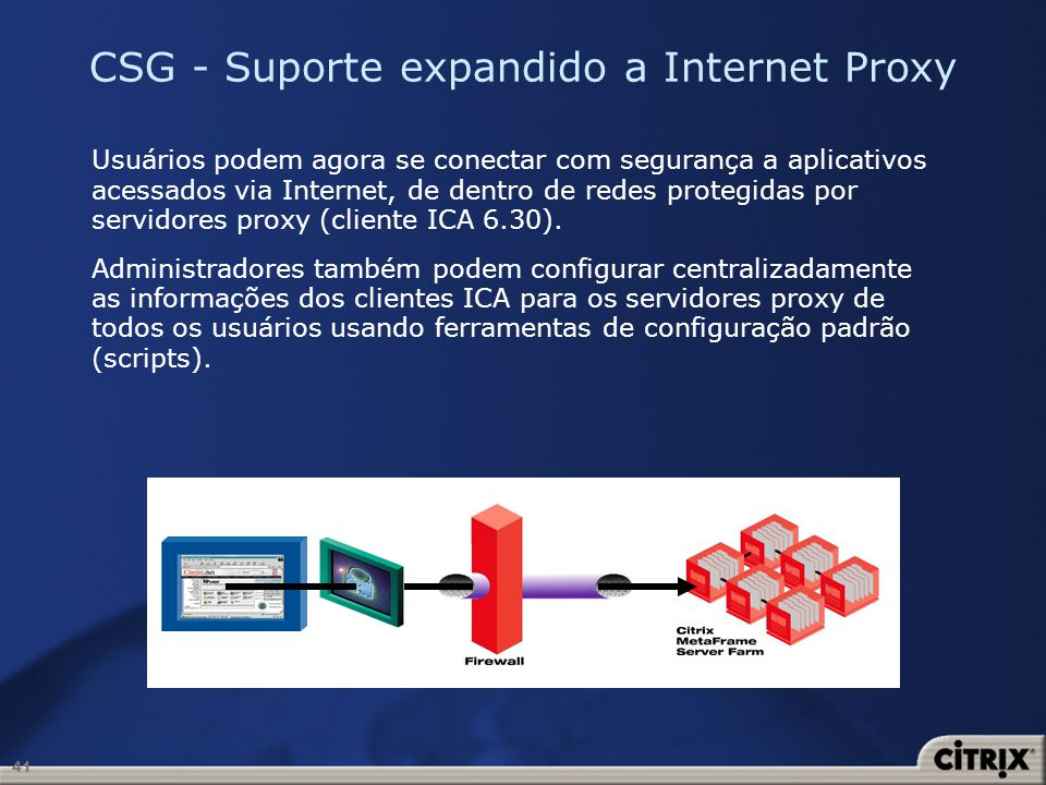 CSG - Suporte expandido a Internet Proxy