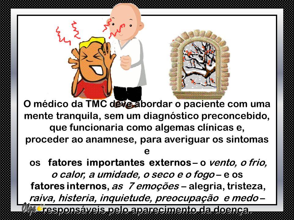 O médico da TMC deve abordar o paciente com uma