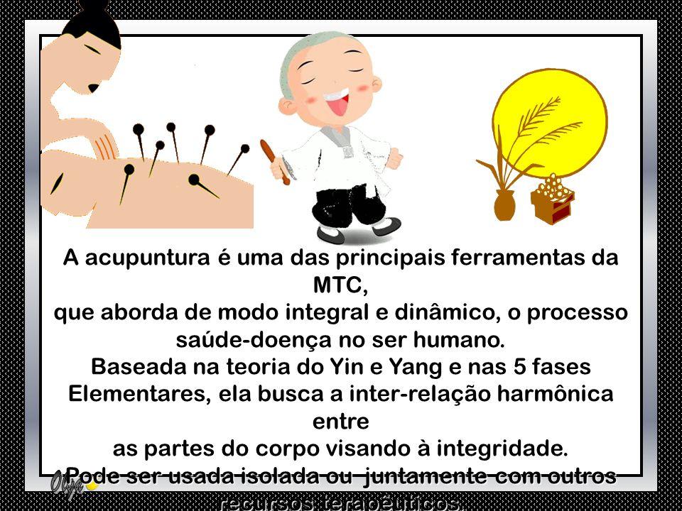 A acupuntura é uma das principais ferramentas da MTC,