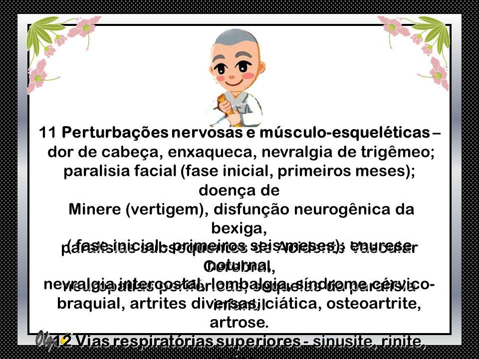 11 Perturbações nervosas e músculo-esqueléticas –