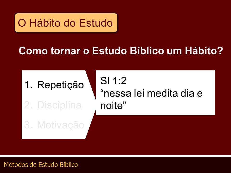 O Hábito do Estudo Como tornar o Estudo Bíblico um Hábito Sl 1:2