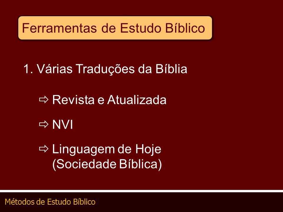 Ferramentas de Estudo Bíblico