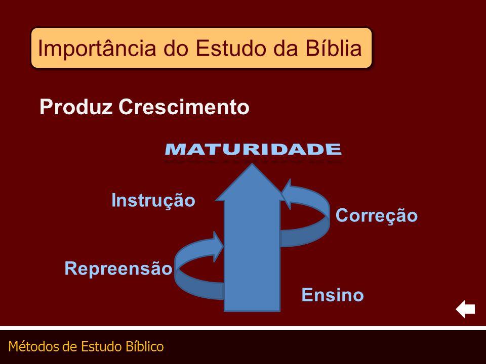 MATURIDADE Importância do Estudo da Bíblia Produz Crescimento
