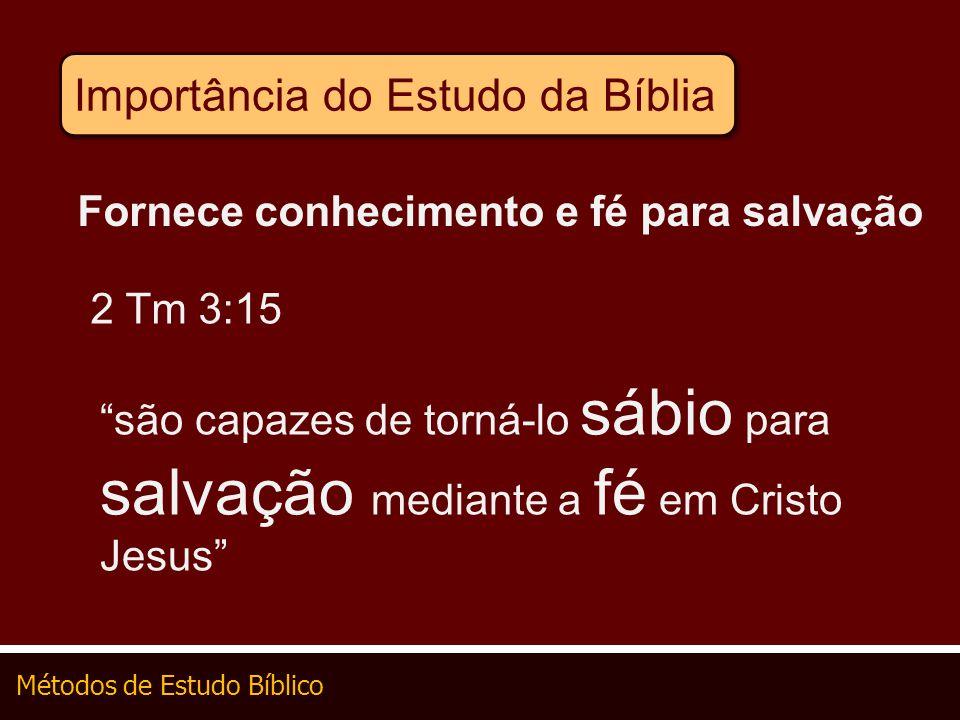 Importância do Estudo da Bíblia