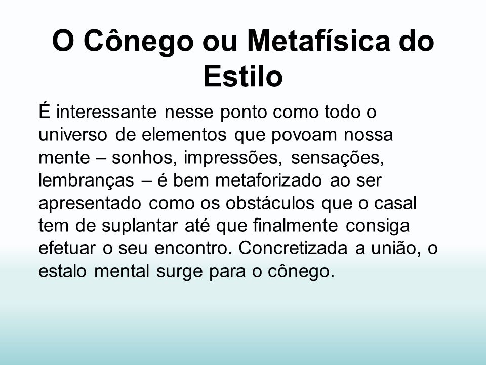 O Cônego ou Metafísica do Estilo