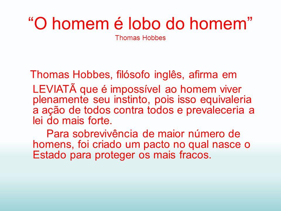 O homem é lobo do homem Thomas Hobbes