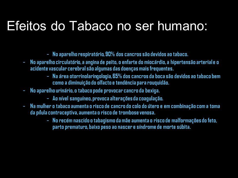 Efeitos do Tabaco no ser humano: