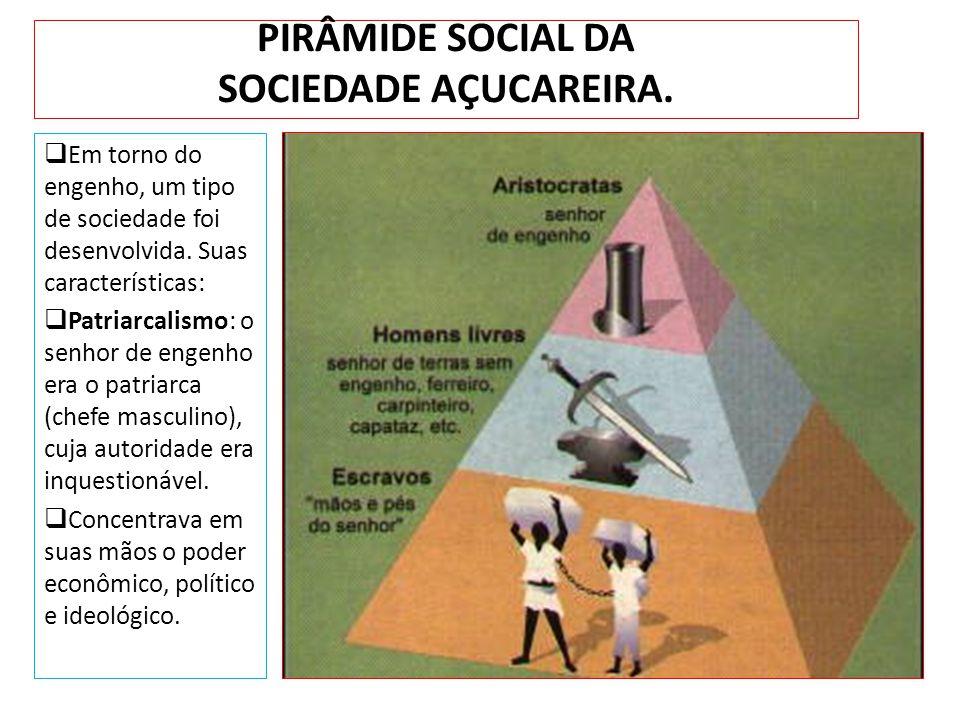 PIRÂMIDE SOCIAL DA SOCIEDADE AÇUCAREIRA.