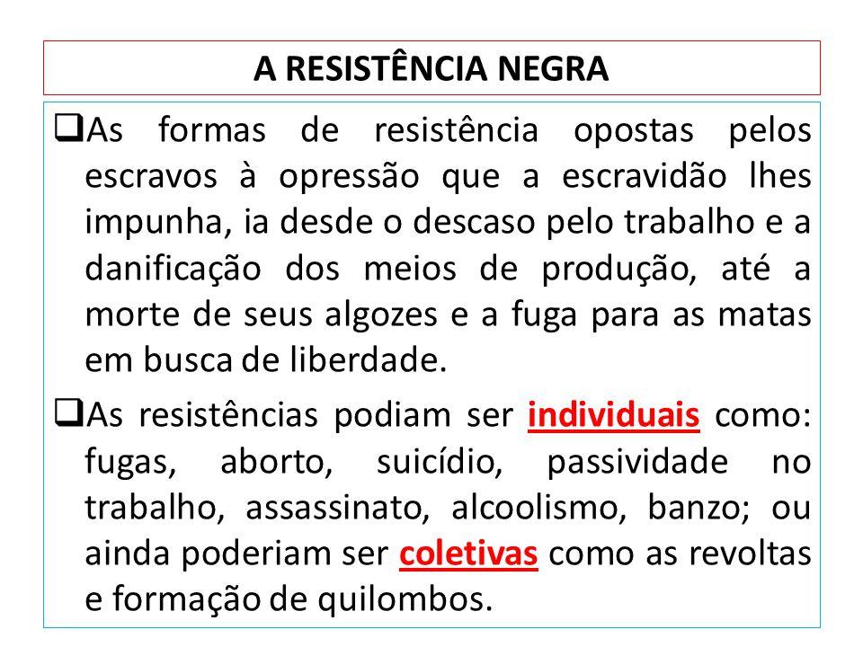 A RESISTÊNCIA NEGRA