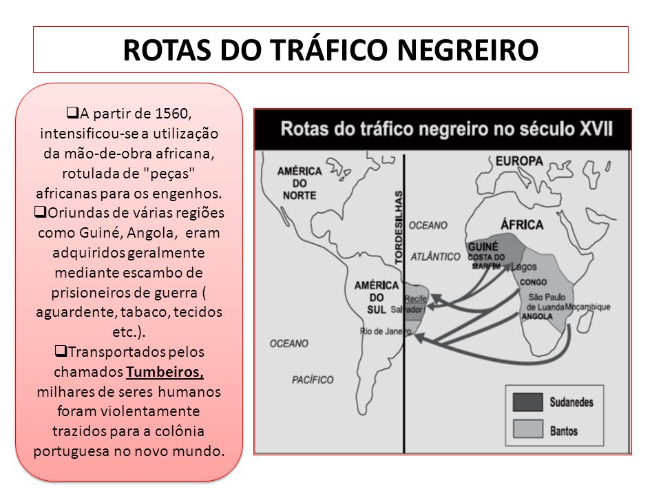 ROTAS DO TRÁFICO NEGREIRO