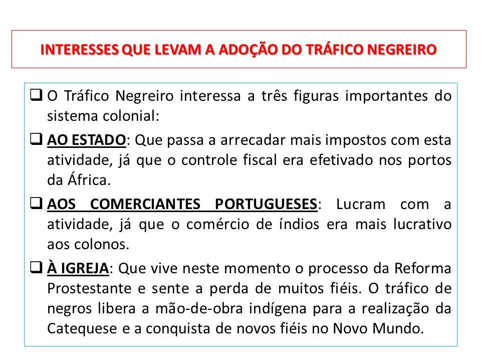 INTERESSES QUE LEVAM A ADOÇÃO DO TRÁFICO NEGREIRO