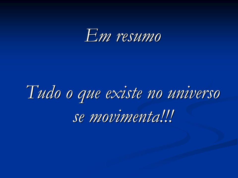 Tudo o que existe no universo se movimenta!!!