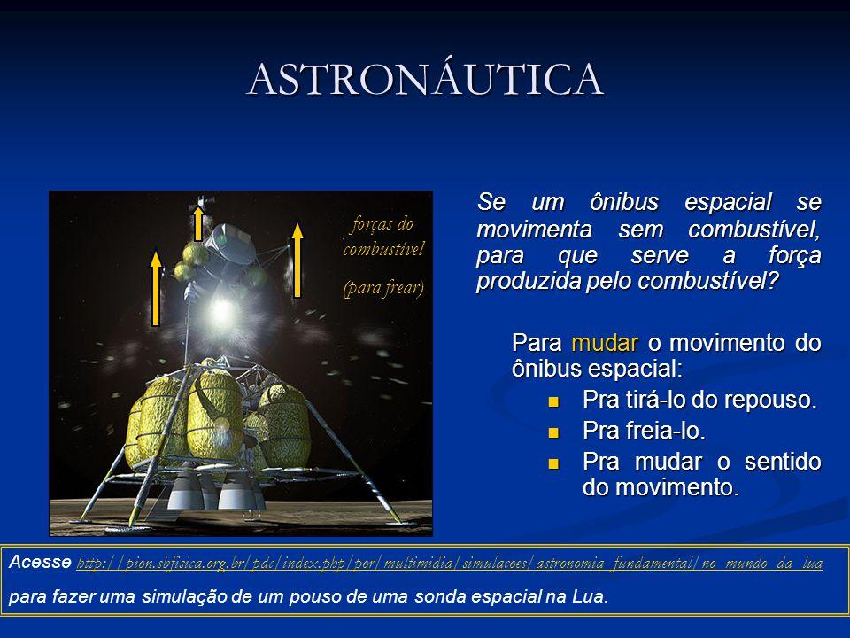ASTRONÁUTICA Se um ônibus espacial se movimenta sem combustível, para que serve a força produzida pelo combustível