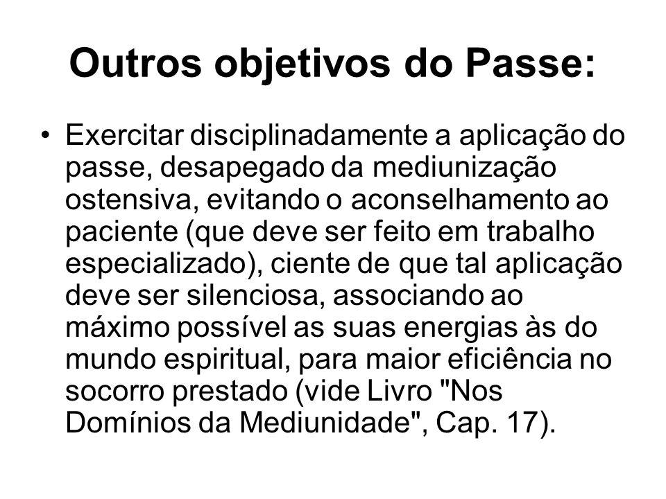 Outros objetivos do Passe: