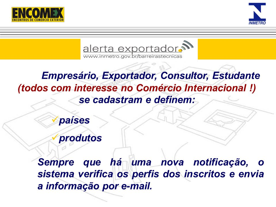 Empresário, Exportador, Consultor, Estudante