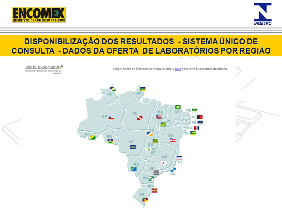 DISPONIBILIZAÇÃO DOS RESULTADOS - SISTEMA ÚNICO DE CONSULTA - DADOS DA OFERTA DE LABORATÓRIOS POR REGIÃO